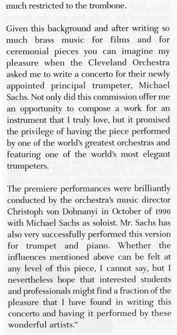 trumpet essay